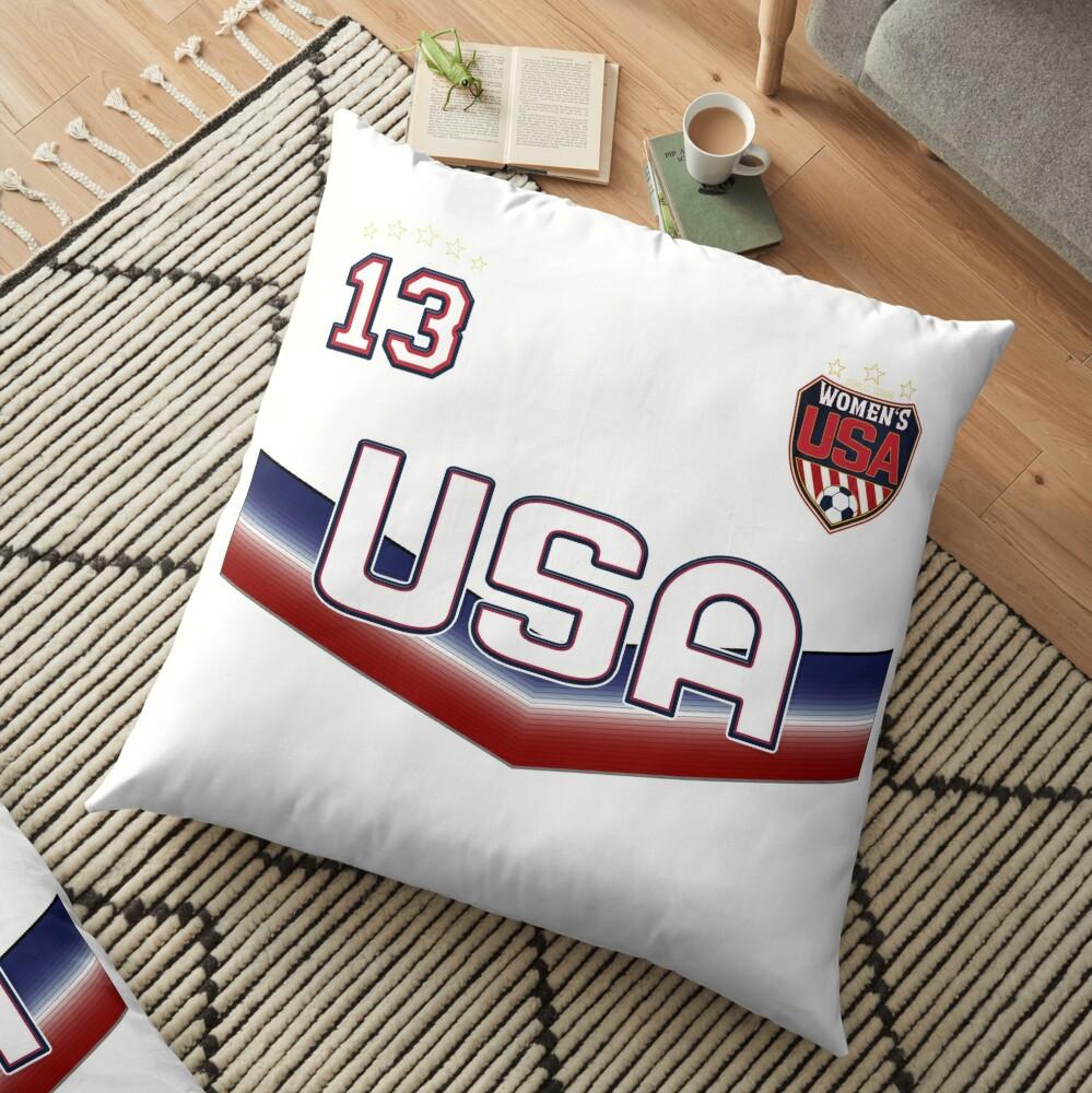 USA Soccer Female Team Nummer 13 Bodenkissen