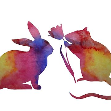 Rat and rabbit by TheJollyMarten