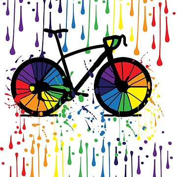 Rainbow bicycle 2 by cheeckymonkey