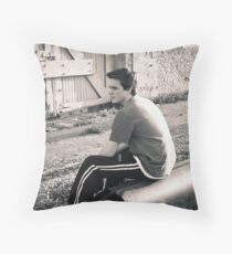 Train Station Mike Throw Pillow