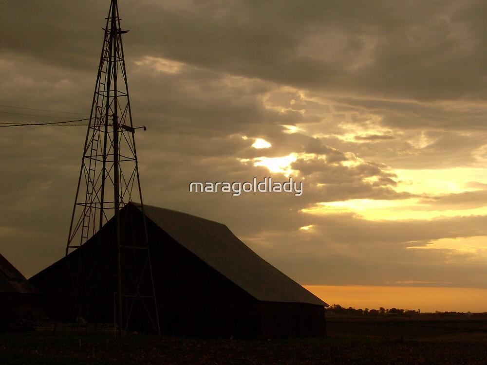 Barn Sunrise Again by maragoldlady