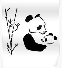 PANDAS Awesome animal for Men's Women's & Kids gifts artbyjfg Poster