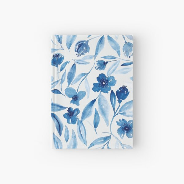 Prussian Floral Hardcover Journal