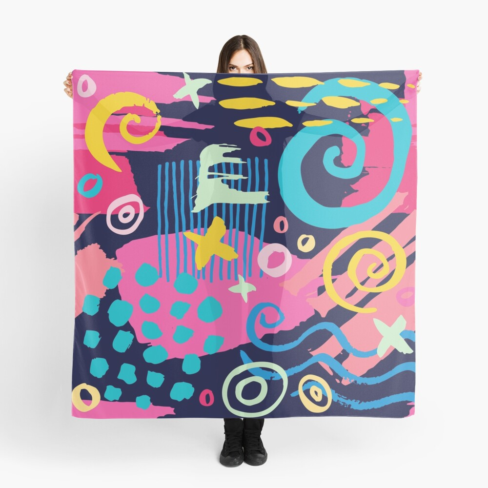 Trendy Abstract Art Pattern Scarf