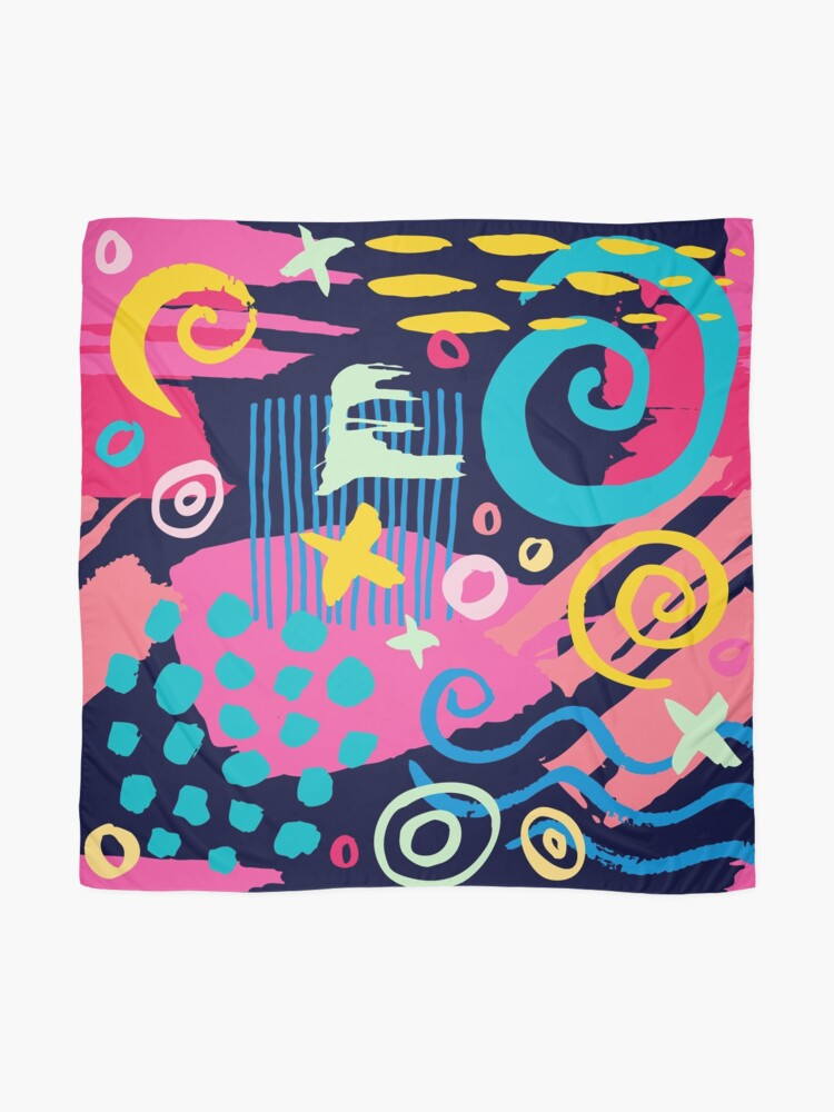 Alternate view of Trendy Abstract Art Pattern Scarf