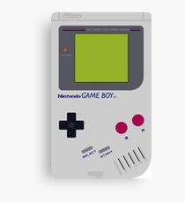 Classic Retro Gameboy - iPhone case includes Apple Logo Canvas Print