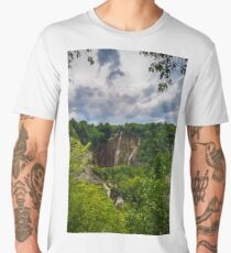 Plitvice lakes, National park, Croatia Men's Premium T-Shirt