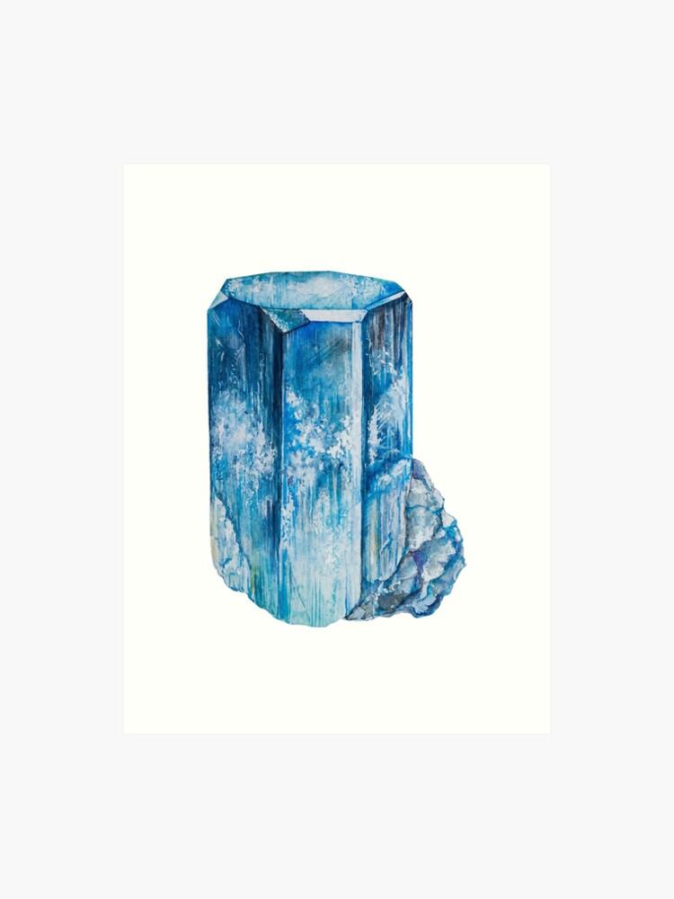 Aquamarine Birthstone Background