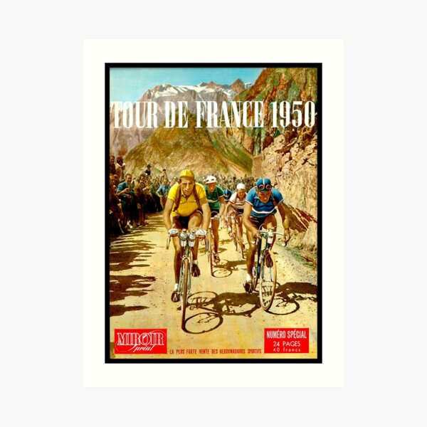 LE TOUR DE FRANCE; Vintage Bicycle Racing Print Art Print
