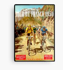 LE TOUR DE FRANCE; Vintage Bicycle Racing Print Metal Print