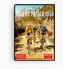 Lienzo LE TOUR DE FRANCE; Vintage Bicycle Racing Print