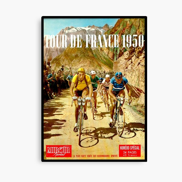 LE TOUR DE FRANCE; Impresión de carreras de bicicletas vintage Lienzo
