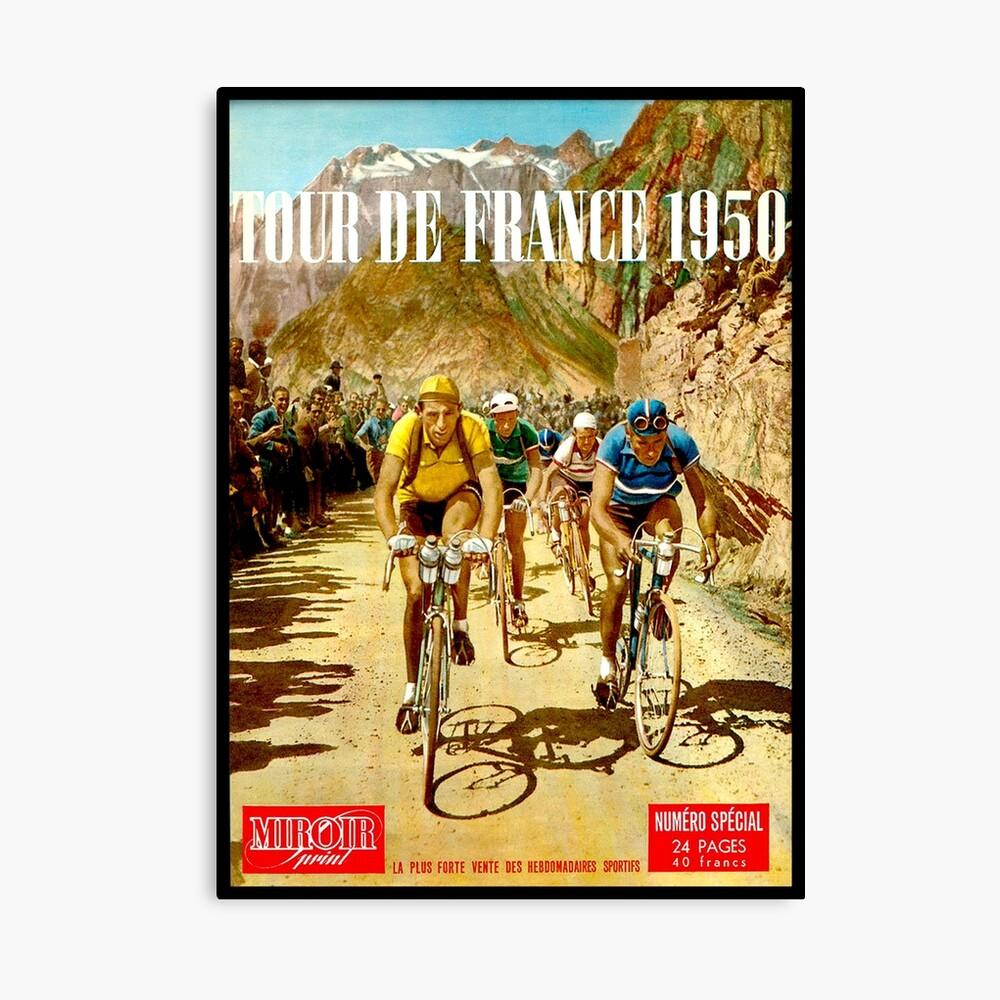 LE TOUR DE FRANCE; Vintage Bicycle Racing Print Lienzo