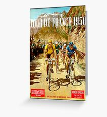LE TOUR DE FRANCE; Vintage Bicycle Racing Print Greeting Card