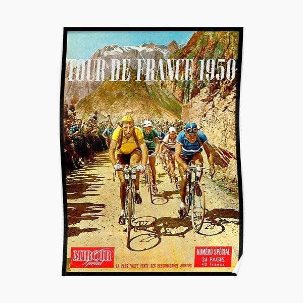 LE TOUR DE FRANCE; Impression de course de vélos vintage Poster