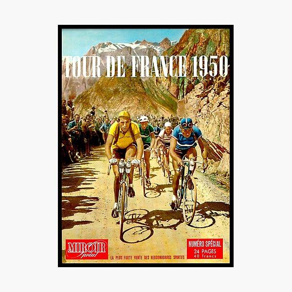 LE TOUR DE FRANCE; Vintage Bicycle Racing Print Photographic Print