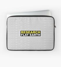 RESEARCH FLAT EARTH MULTI-LANGUAGE Laptop Sleeve