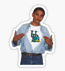 Obama wearing University of Delaware shirt Sticker
