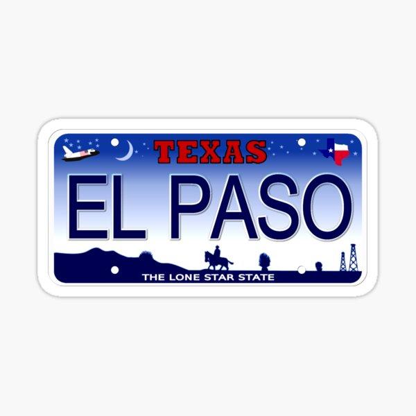 El Paso Texas State License Plate Sticker