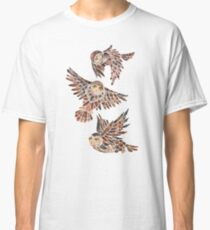 Owls in Flight – Brown Palette Classic T-Shirt