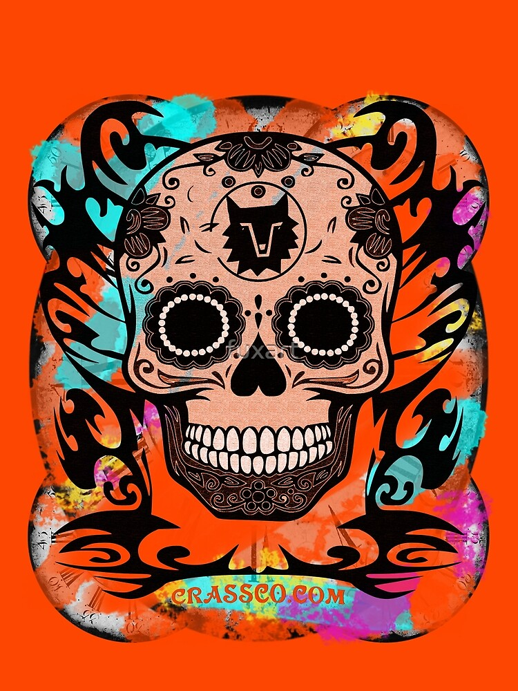 SKULL CULT ORANGE II by fuxart