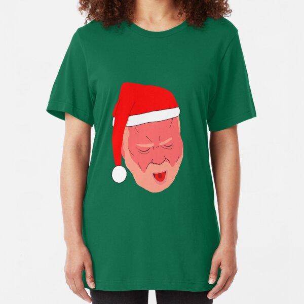 Phil Mitchell Vomiting Santa Slim Fit T-Shirt
