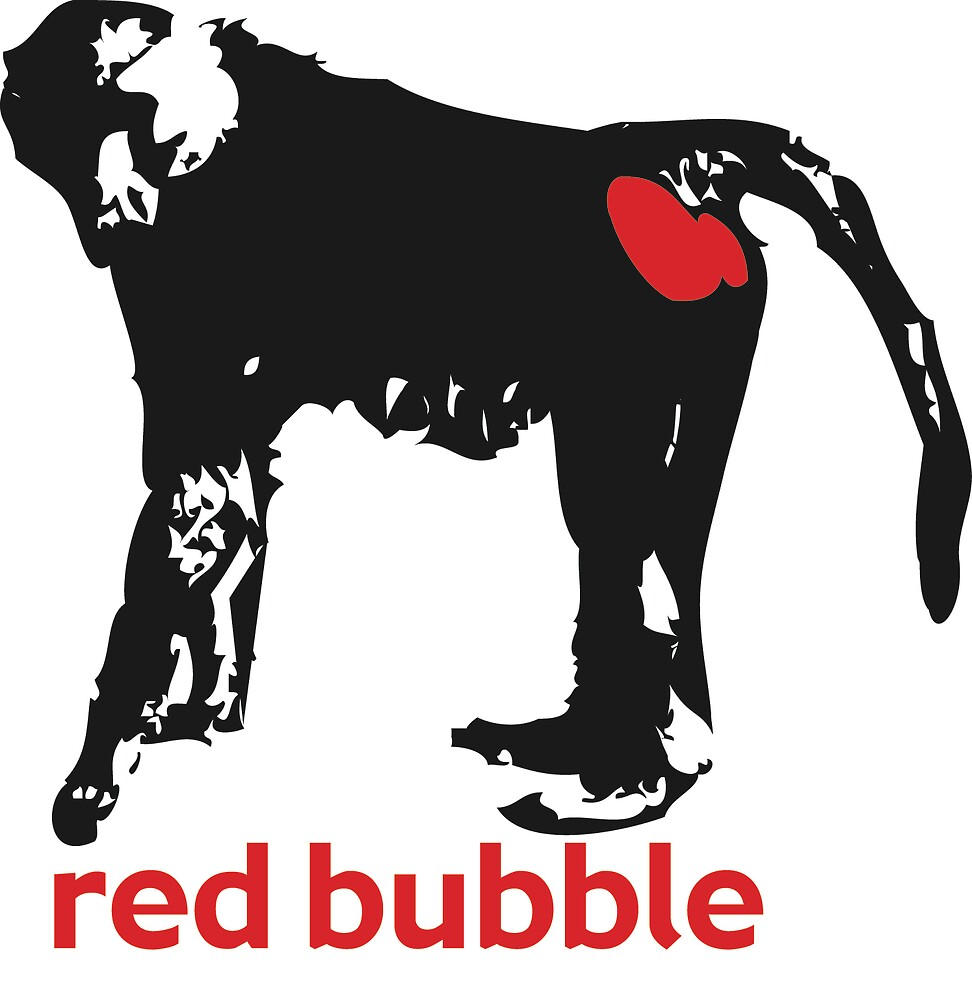 red bubble logo by ccford