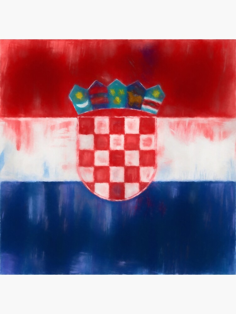 Croatia Flag Reworked No. 1, Series 1 by 8th-and-f