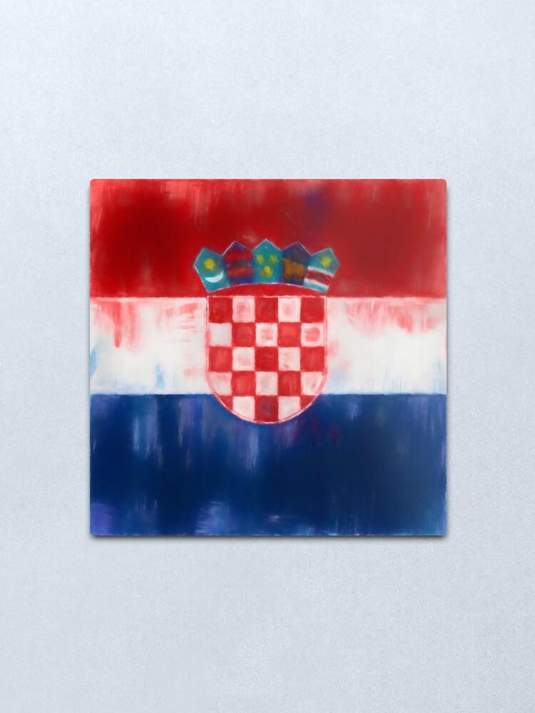 Alternate view of Croatia Flag Reworked No. 1, Series 1 Metal Print