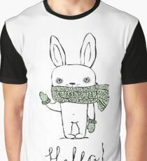 Cute Rabbit Graphic T-Shirt