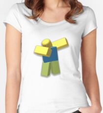 Roblox Dab!! [HD] Women's Fitted Scoop T-Shirt