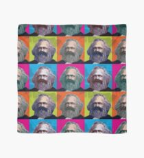 KARL MARX - FATHER OF SOCIALISM, 4-UP WARHOL-STYLE COLLAGE ILLUSTRATION Scarf