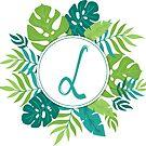 Monogramm-Buchstabe L | Personalisiert | Tropisches Design von PraiseQuotes