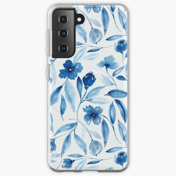 Prussian Floral Samsung Galaxy Soft Case