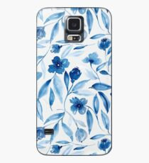 Prussian Floral Case/Skin for Samsung Galaxy