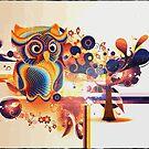 Owl Olga - colorful by harietteh