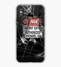 Do Not Enter Broken Glass iPhone Case