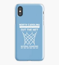 North Carolina Tar Heels t shirts - Cut The Net iPhone Case/Skin