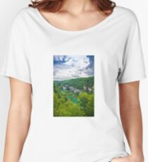 Plitvice lakes, National park, Croatia Women's Relaxed Fit T-Shirt