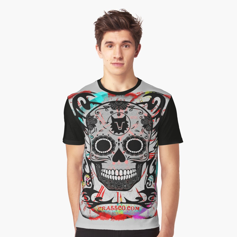 SKULL CULT MULTICOLOR CRASSCO Graphic T-Shirt Front