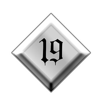 NUMBER 19, 19, Nineteen, Nineteenth, Teenager, Goth, Gothic, Minster Type by TOMSREDBUBBLE