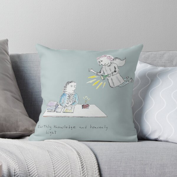 Earthly Knowledge and Heavenly Light Throw Pillow