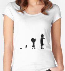Rick Evolution - Black Women's Fitted Scoop T-Shirt