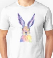 Rainbow Hare Unisex T-Shirt