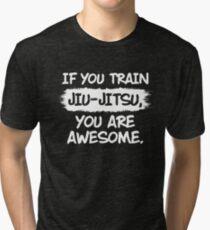 Jiu Jitsu Tshirt For BJJ Shirt Lovers Tri-blend T-Shirt