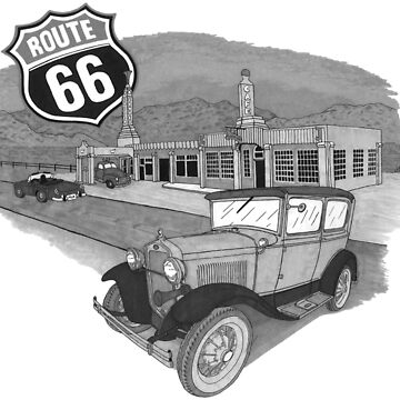 Route 66 Black and White by JaMiHo1981