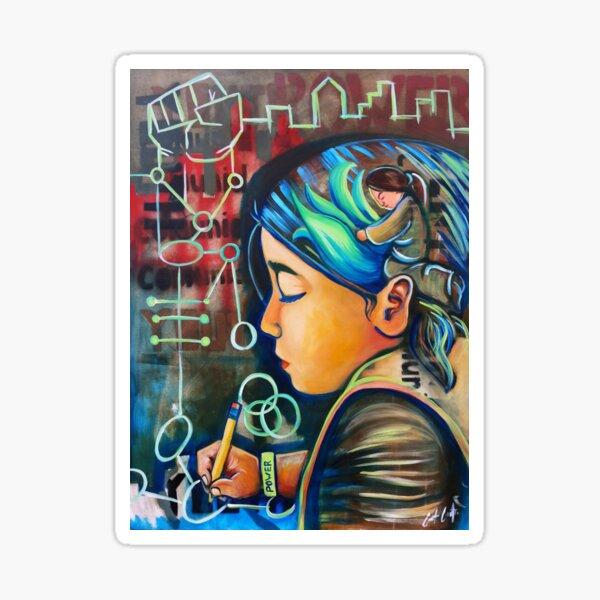 Youth Writing Power Sticker