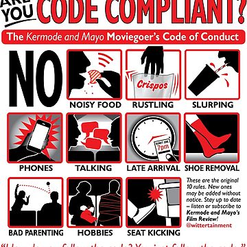 Kermode and Mayo's Code of Conduct (Light BG) by adamabrams