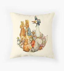 Children's Story Book Animals Throw Pillow