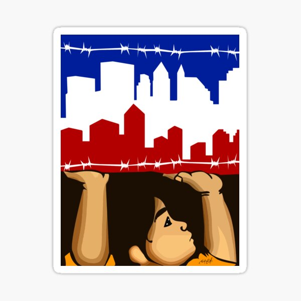 Child Holding Up City Sticker